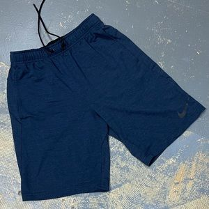 "Nike Dri Fit Fleece 9"" Shorts 817417-451 Navy S"